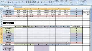 Spreadsheet Modeling Tutorials: Supply Network Planning Decision Model Example (Part 2)