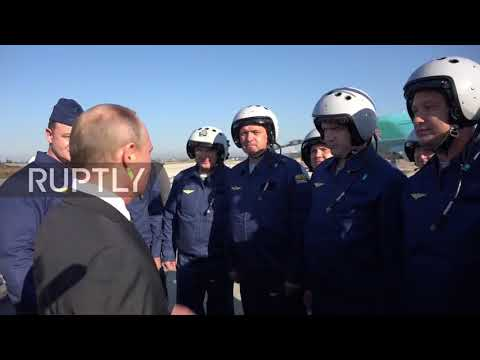 Syria: Putin thanks Russian Air Force for their service during visit to Khmeimim base
