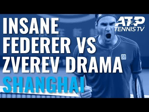 UNBELIEVABLE Drama in Federer vs Zverev Second Set! | Shanghai 2019 Quarter-Final