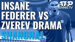 UNBELIEVABLE Drama in Federer vs Zverev Second Set!   Shanghai 2019 Quarter-Final