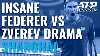 UNBELIEVABLE Drama in Federer vs Zverev Second Set! | Shanghai 2019 Quarter-Final