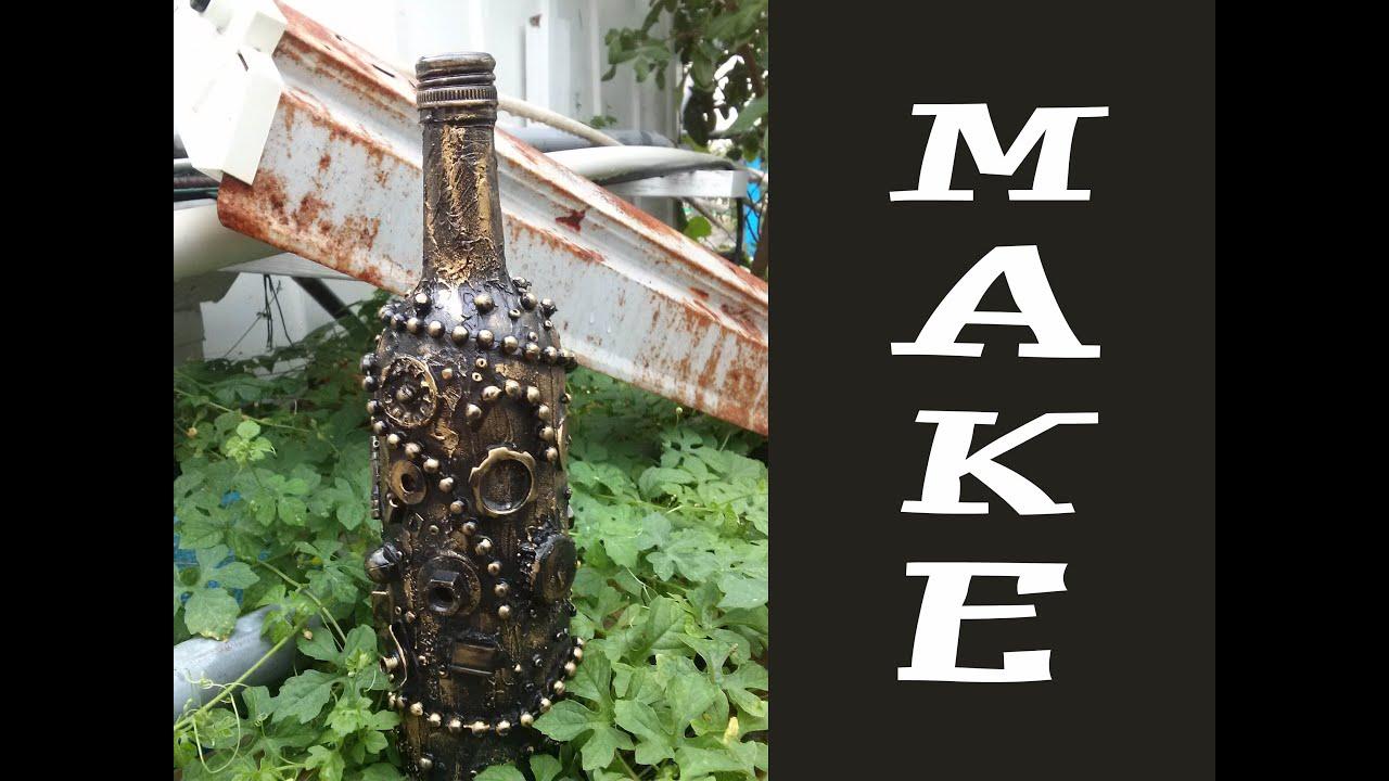 Steampunk Altered Wine Bottle Make Video - YouTube