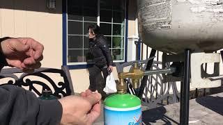 Refilling a refillable 1lbs. propane bottle