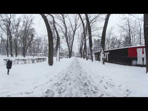 Skopje City Park in Snow - 4K 360°
