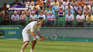 Wimbledon 2017 final -Grand Slam Tennis 2 (Superstar-5 set match)