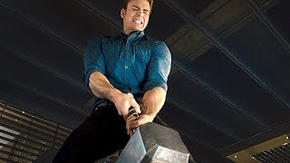 "AVENGERS 2 Age of Ultron  Movie Clip ""Lifting Thor's Hammer"""