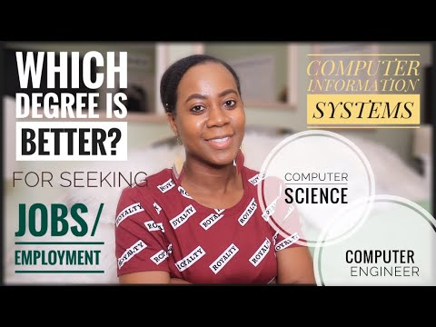 WHICH DEGREE IS BETTER? JOBS/EMPLOYMENT | CIS COMPUTER SCIENCE or COMPUTER ENGINEER ?