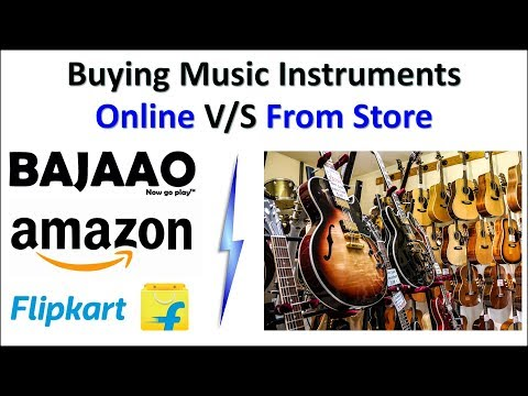 Buying music instrument online or from store guide | which one is better for you??
