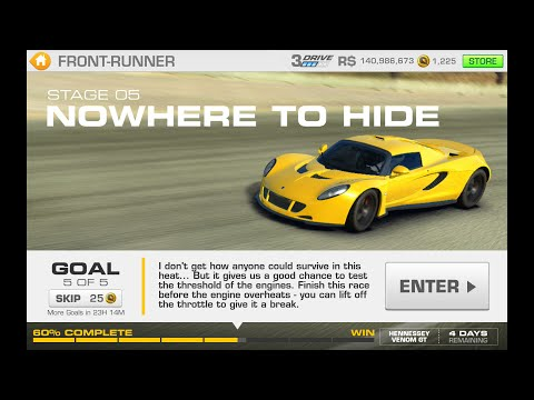 Real Racing 3 Front Runner Stage 5 Goal 5 Hennessey Venom GT