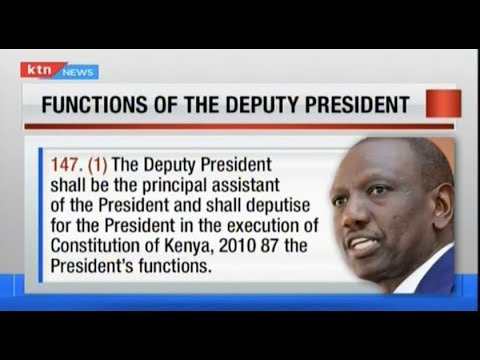 The roles of Deputy President as defined in The Constitution