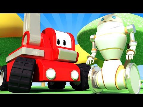 The Bad Robot - Tiny Trucks for Kids with Street Vehicles Bulldozer, Excavator & Crane