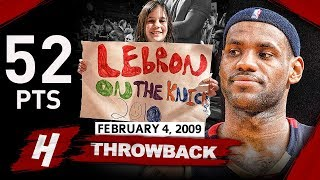 LeBron James OLD MSG Record Highlights vs Knicks (2009.02.04) - 52 Pts, 11 Ast, EPIC SHOW!
