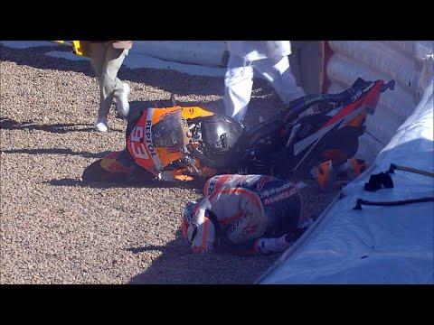 Durísima caída de Marc Márquez en Jerez