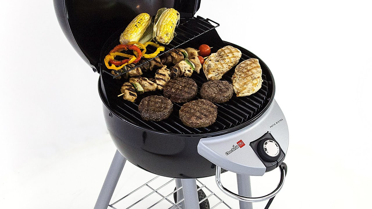 Char-Broil Patio Bistro 240 Electric Grill - YouTube