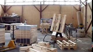 Bed slats production overview video #1