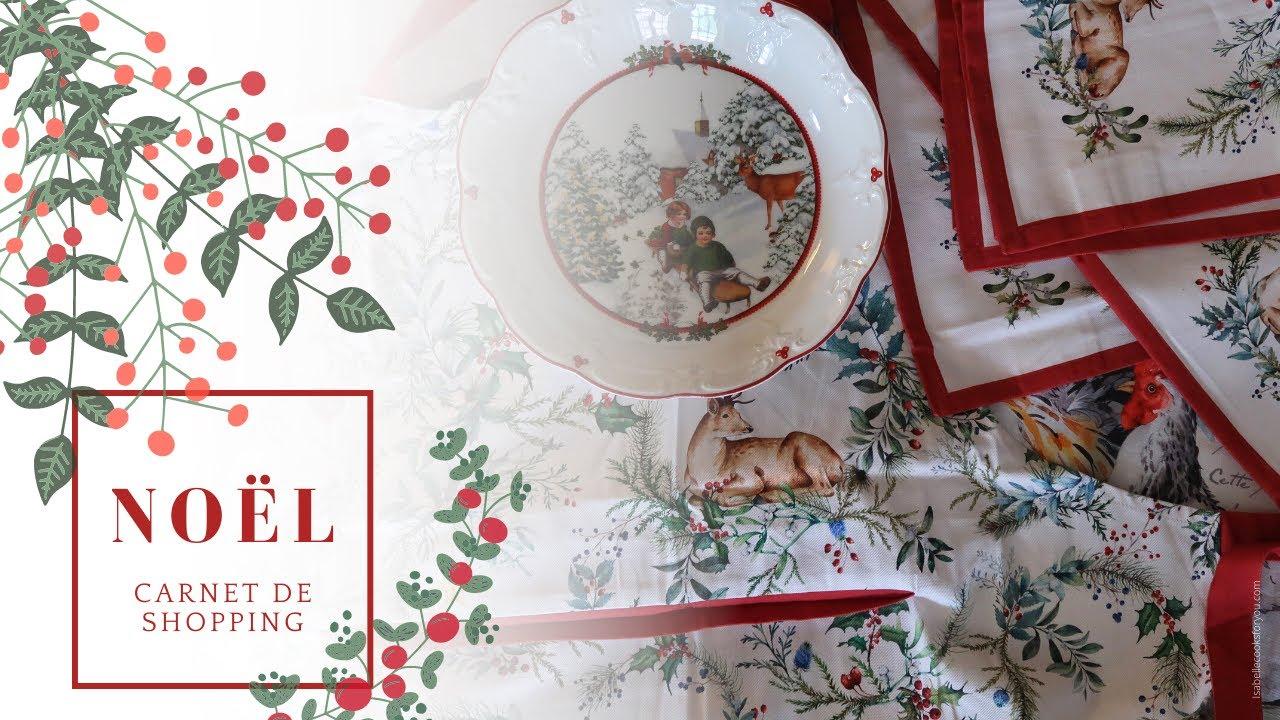 Carnet de shopping Linge et vaisselle de Noël