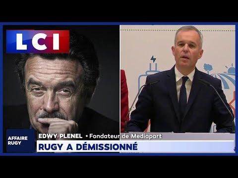 Démission de François de Rugy : la réaction d'Edwy Plenel sur LCI