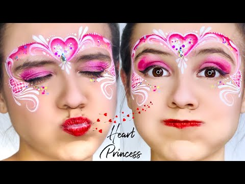 ONE STROKE Heart Crown Princess Face Paint