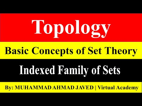 Lecture NO. 7 | Indexed Family of Sets | Topology | Virtual Academy