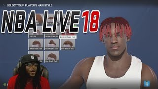 NBA LIVE 18 The One Career Mode Ep 1 - THE ULTIMATE POINT GUARD CREATION WITH NEW CRAZY HAIR STYLES!