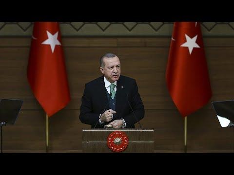 Cumhurbaşkanı Erdoğan, MHP Genel Başkanı Bahçeli'yi kabulüne ilişkin açıklama yapıyor