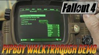 Fallout 4 - Pip Boy Walkthrough - Official Gameplay Demo #3 E3 2015