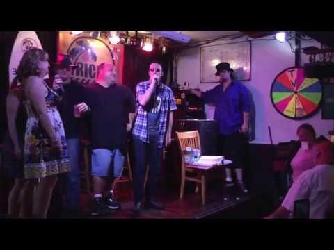 Late night karaoke at Ricks in Key West.