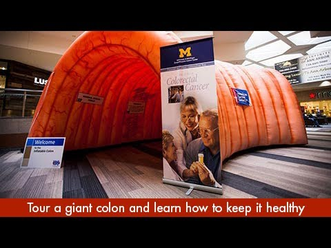 Tour a Giant Colon with a University of Michigan Health System Expert