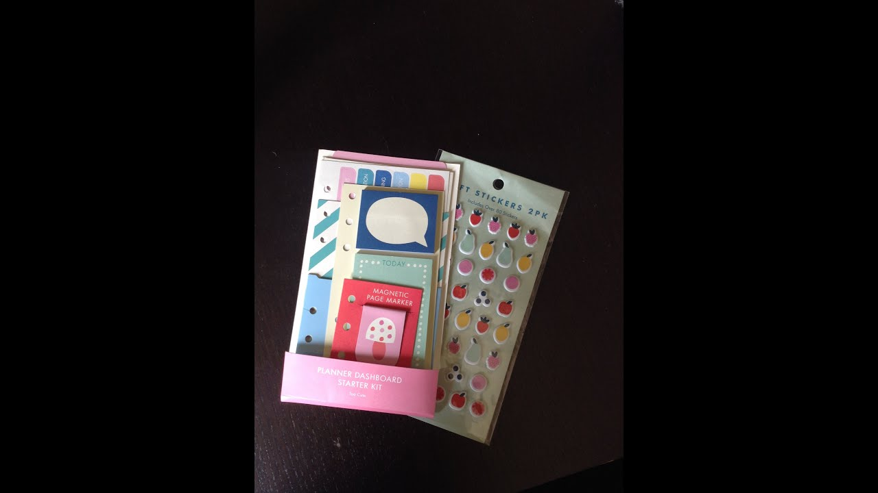 Kikki k planner dashboard starter kit too cute youtube for What is a planner dashboard