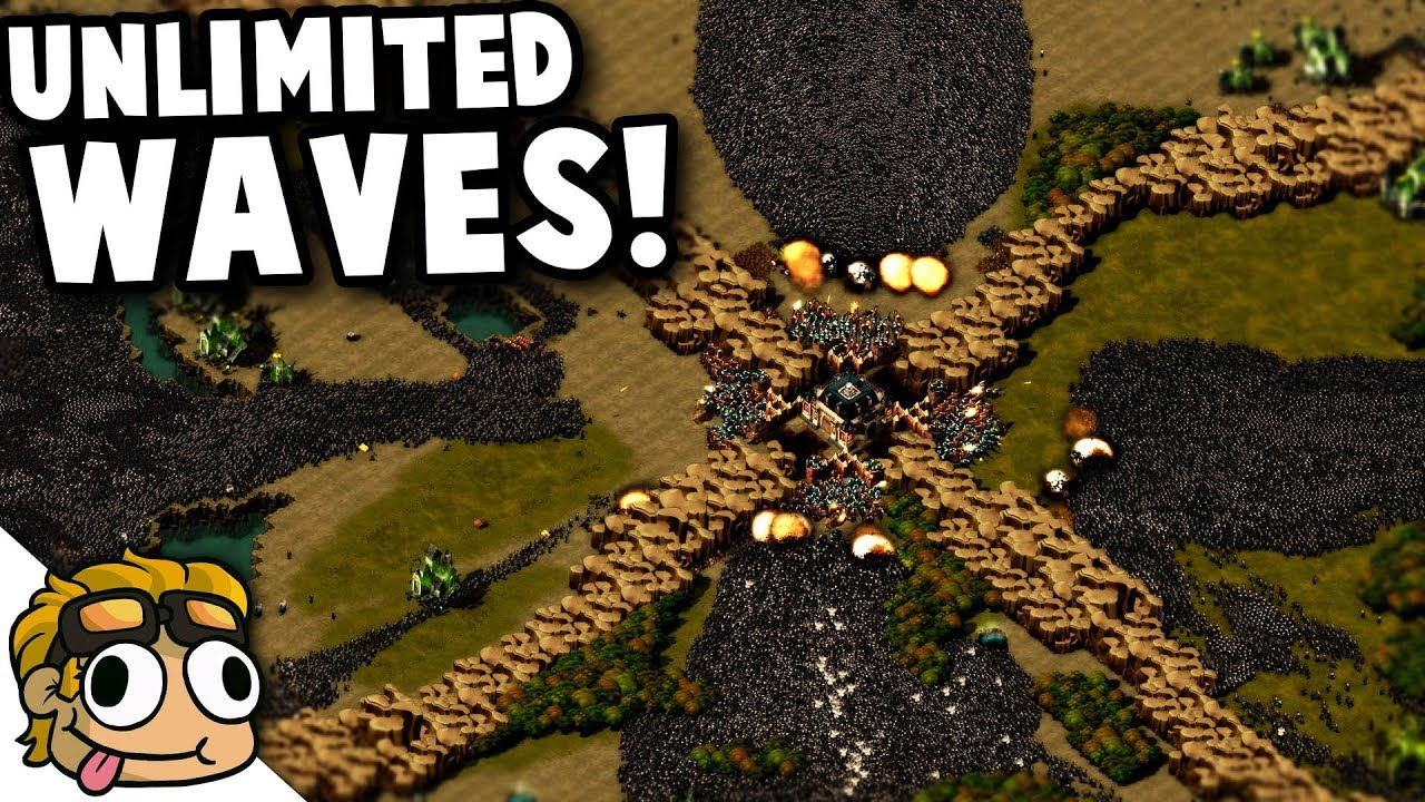 UNLIMITED WAVES vs UNIT SPAWNER! | They Are Billions Custom Map Gameplay