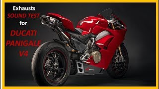 9 Exhausts sound test - Ducati Panigale V4