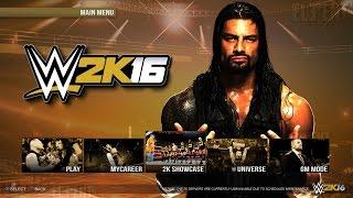 WWE 2K16 Demo Gameplay - Main Menu & Games Modes - PS4/XB1 - WWE 2K16 Notion