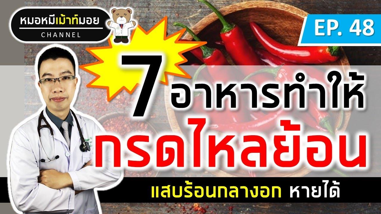 7 อาหาร ทำให้กรดไหลย้อน แสบร้อนกลางอก | เม้าท์กับหมอหมี EP.48