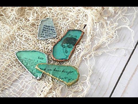 Sea Gems - embellishments tutorial - Nik the Booksmith
