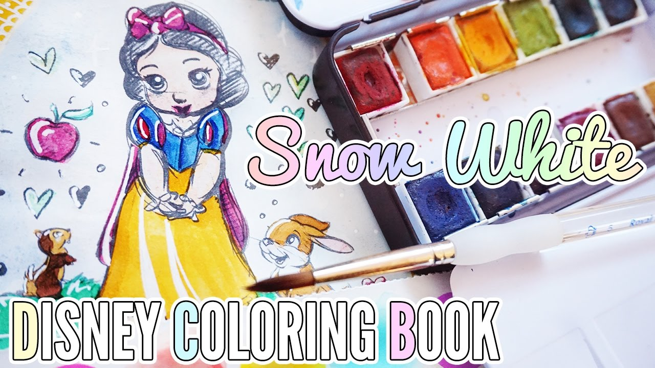 Disney Watercolor Coloring Book ❖ Snow White
