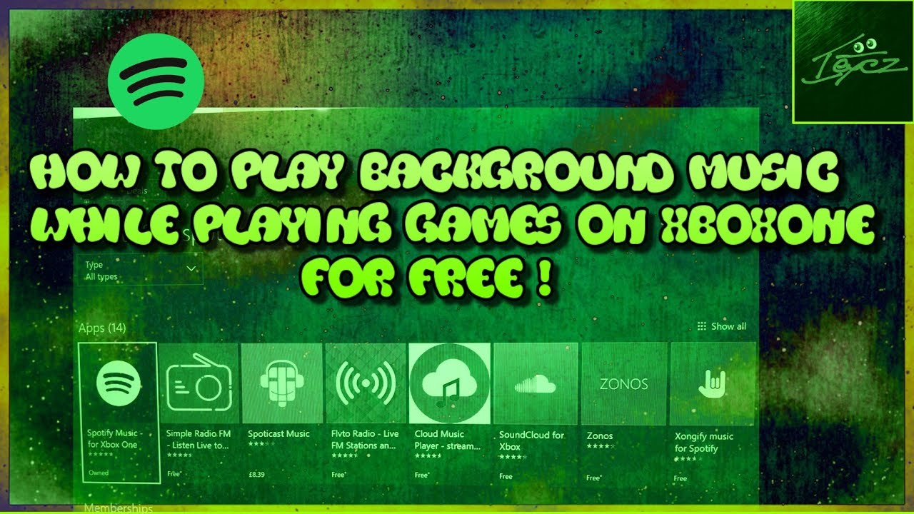 How to play background music whilst gaming on xbox one (Spotify for free)