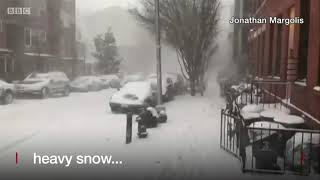 Bomb cyclone: How the storm's impacting the East Coast - BBC News