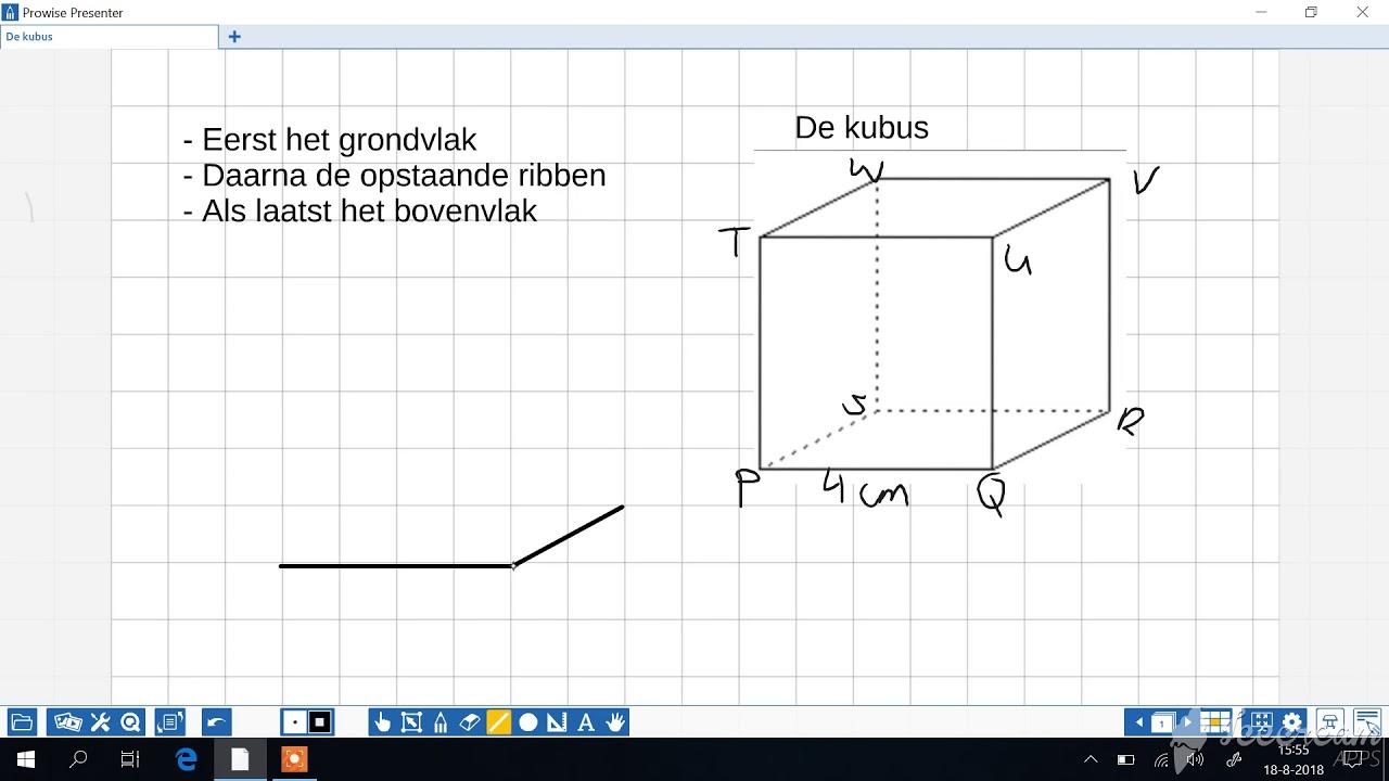 Kubus tekenen in 3d youtube for Tekenen in 3d