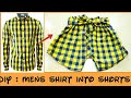 RECYCLE OLD MENS SHIRT INTO GIRLS SHORT PANTS~ HOT PANTS FROM OLD SHIRT