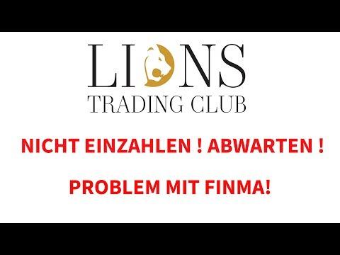 Lions Trading Club News, Nicht einzahlen! Abwarten! Problem mit FINMA