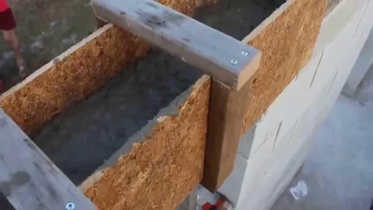 Ablak áthidaló öntés - zsaluzás vasalás betonozás - YouTube