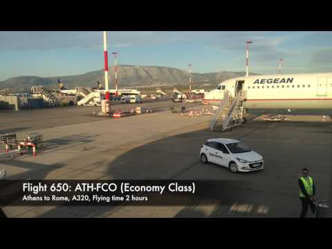 Riyadh to Rome flight via Aegean Airlines economy class
