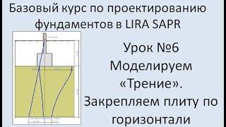 Базовый курс по проектированию фундаментов в Lira Sapr Урок 6
