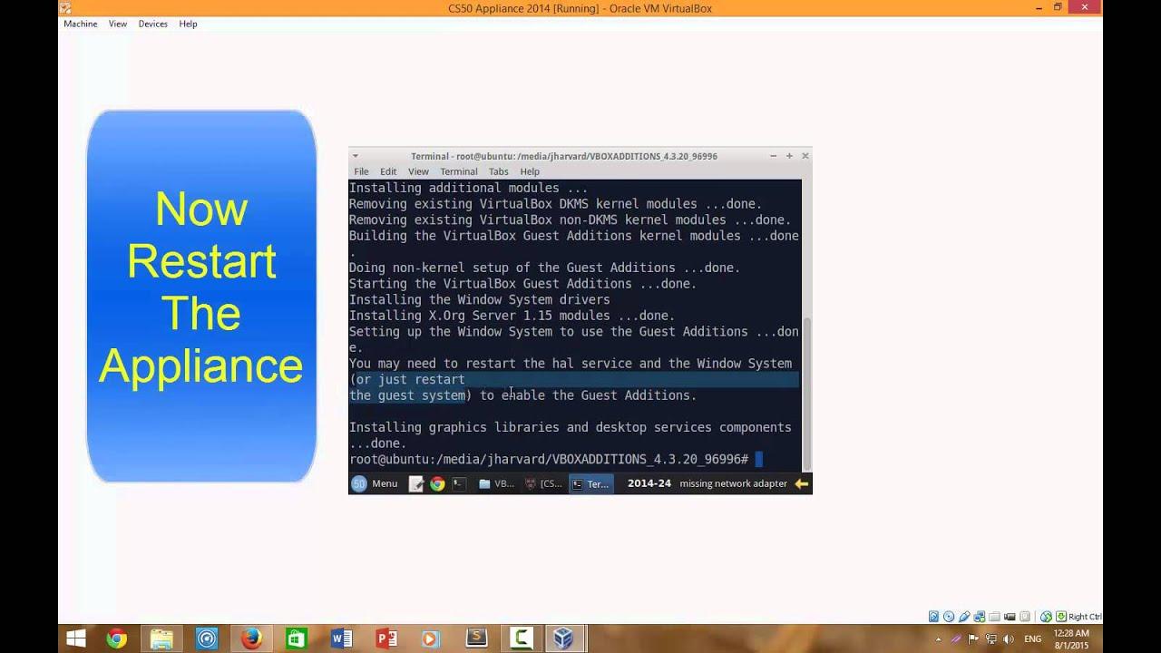 Importing & Installing CS50 Appliance Ver24+ Missing Network Adaptor In  VirtualBox