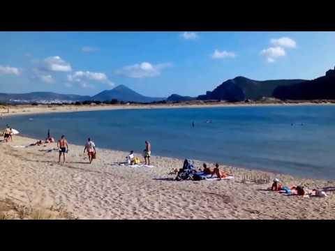 Voidokilia beach, Navarino bay, Peloponez, Grcka