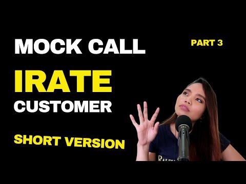 Irate Customer Mock Call Uninterrupted Version