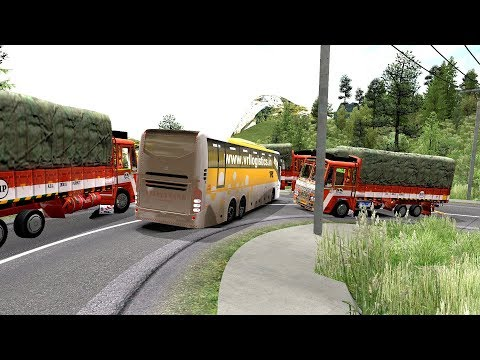 Heavy Load Leyland Lorry Vs Angry Volvo Bus Driver | Euro Truck Simulator 2