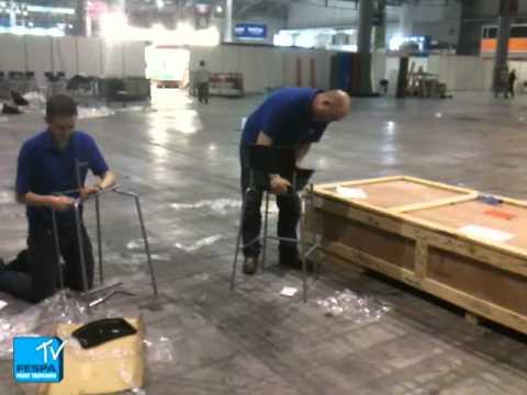 Taburete Stig.The Fespa Team Take The Ikea Stig Chair Challenge At Fespa Digital 2012 Fespa Tv