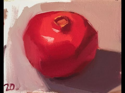 "Oil Painting Demonstration by Sarah Sedwick: ""Stroke Economy"" (Pomegranate Edition)"