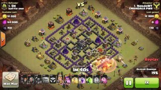 3 Stars Clan War (TH9 VS TH9): GOWIPE Attack Strategy Townhall 9 || Clash of Clans
